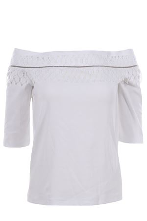 Cotton t-shirt with applications