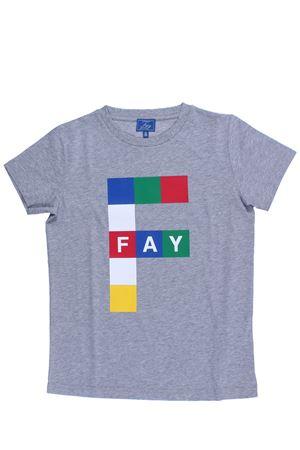 T-shirt girocollo stampa multicolor FAY | 8 | NDHB238767JQSA2ABF