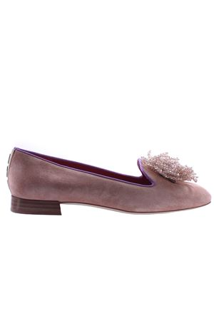Suede ballerinas with bow