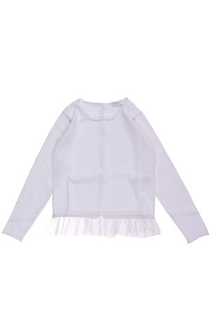 Crew neck with ruffles