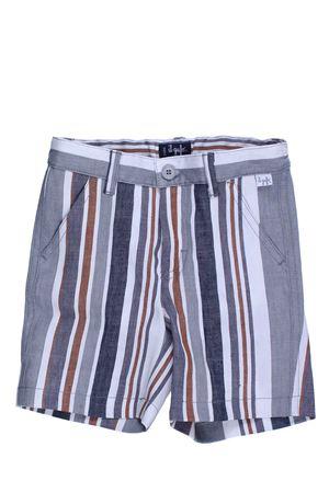 Shorts rigato in lino e cotone IL GUFO | 30 | PB069L1009080
