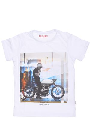 T-shirt stampa moto KO SAMUI   8   KV09J CUSTOMBIANCO