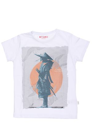 T-shirt stampa samurai KO SAMUI | 8 | KV10J RONINBIANCO