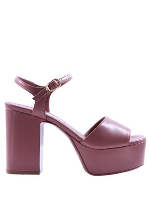 Leather sandal with plateau L