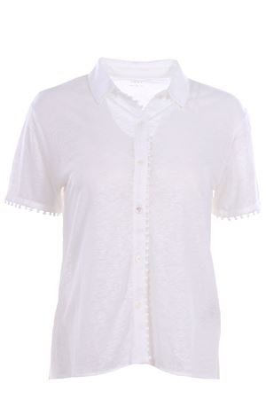 Shirt with linen applications