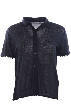 Shirt with linen applications MAJESTIC | 5032279 | J006FCH024002