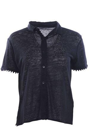 Camicia con applicazioni in lino MAJESTIC | 5032279 | J006FCH024002