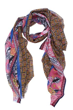 Multicolored cotton scarf