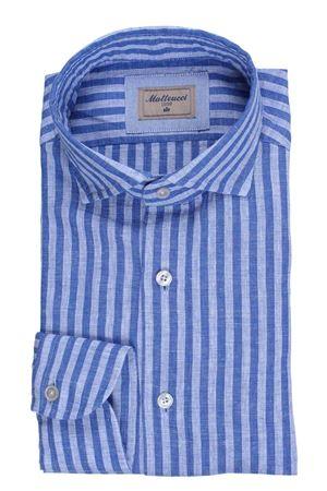 Camicia lavata a righe in lino e cotone MATTEUCCI 1939   5032279   500EBLW08990250