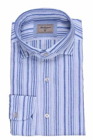 Camicia lavata a righe in lino e cotone MATTEUCCI 1939   5032279   500EBLW08990251