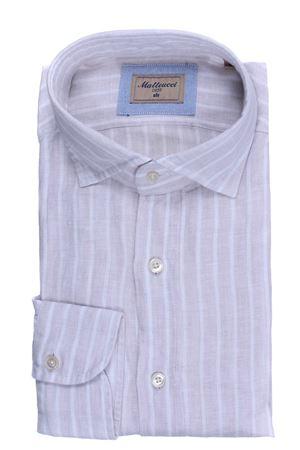 Striped linen shirt MATTEUCCI 1939 | 5032279 | 500EBLW09017211
