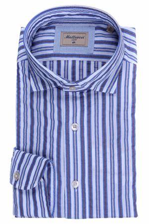 Camicia lavata a righe in seersucker di cotone  MATTEUCCI 1939 | 5032279 | 500EBLW09032270