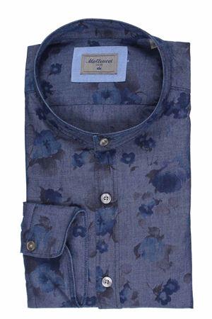 Camicia coreana in denim stampa floreale MATTEUCCI 1939   5032279   CANNESEJ09008650