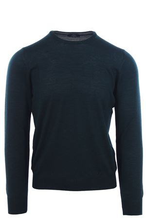 Wool and silk crew neck