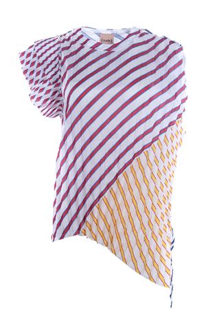 T-shirt girocollo effetto plissè NUDE | 8 | 1103568154