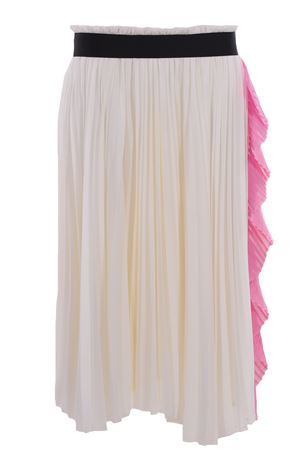 Calf-lenght skirt with ruffles