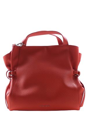 Large leather bag with shoulder strap