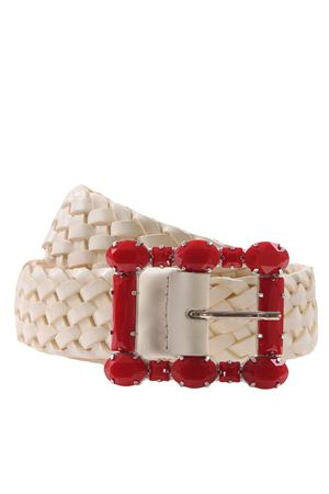 Weaved leather belt