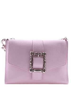Small leather bag with buckle