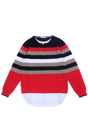 Striped cotton crew neck PAOLO PECORA | -161048383 | PP1670ROSSO