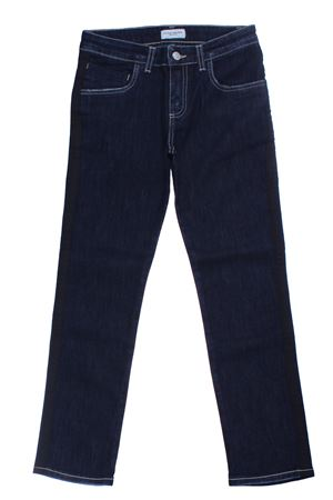 Jeans with side band