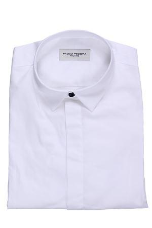 Cotton shirt PAOLO PECORA | 5032279 | PP1699BIANCO/BLU