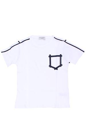 T-shirt girocollo profilata PAOLO PECORA | 8 | PP1748BIANCO/BLU