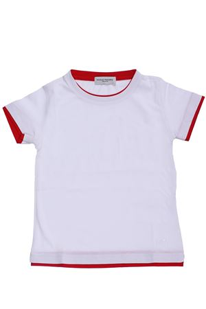 T-shirt in cotone PAOLO PECORA | 8 | PP1772BIANCO/ROSSO