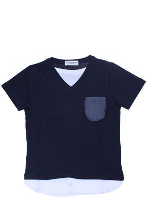 T-shirt con taschino in cotone PAOLO PECORA | 8 | PP1784BLU