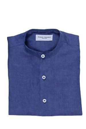 Linen korean shirt PAOLO PECORA | 5032279 | PP1800INDACO