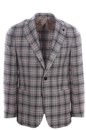 Capri jacket in check di lino,seta e cotone120