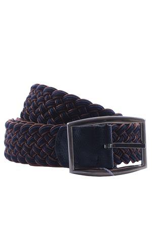 Cintura reversibile intreccio elastico bicolore SADDLER