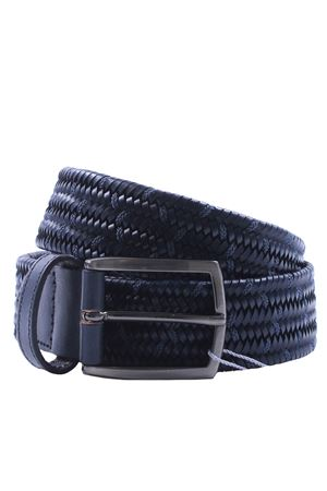 Elasticated leather belt
