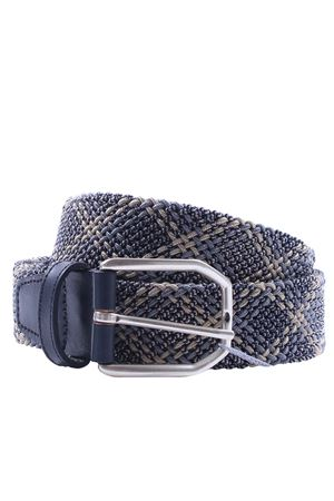 Cintura intreccio elastico check SADDLER
