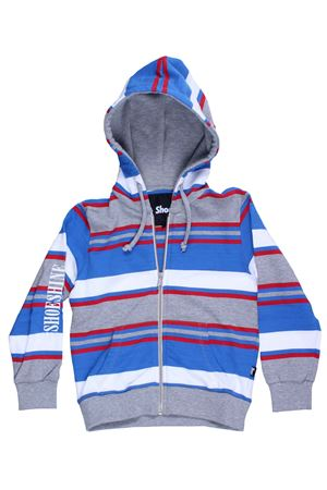 Striped sweatshirt with hood