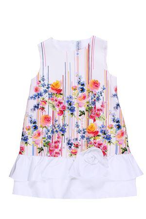 Sleeveless dress with flower print SIMONETTA | 5032276 | 1K1302KD690999