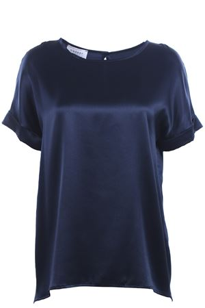 T-shirt girocollo in seta SNOBBY SHEEP | 8 | 58560BLUE