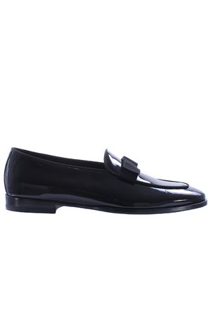 Varnish loafer with bow