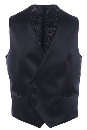 Double breasted tuxedo vest