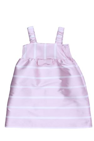 Striped dress with suspenders