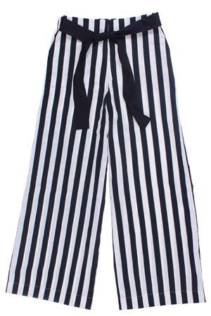 Pantalone a palazzo rigato UNLABEL | 5032272 | JIU PANTBLACK/MILK