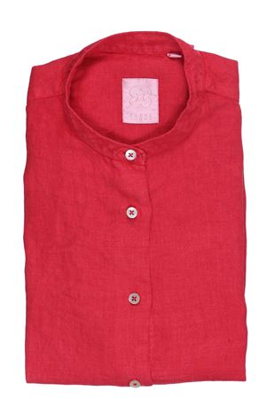 Camicia in lino collo alla coreana XACUS | 5032279 | 45124MARVI411