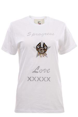 T-shirt girocollo in cotone 5PROGRESS | 8 | 1173BIANCO
