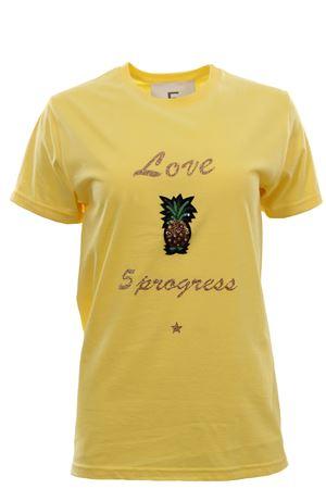 T-shirt girocollo in cotone 5PROGRESS | 8 | 1175GIALLO