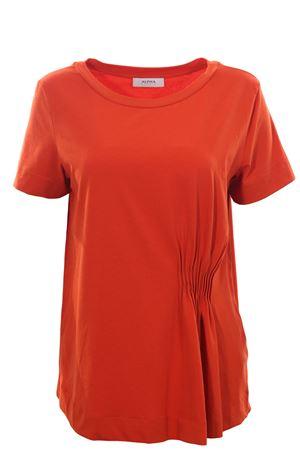 T-shirt girocollo in cotone con pieghe ALPHA | 8 | AD3405C9211