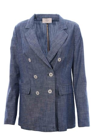 Long double-breasted jacket