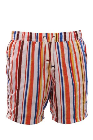 Striped swim short