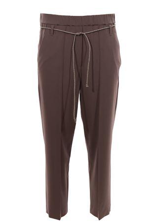 Pantalone con cintura in tela di lana ALYSI | 5032272 | 100115P0045ARGILLA