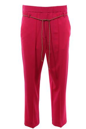 Pantalone con cintura in tela di lana ALYSI | 5032272 | 100115P0045MAGENTA