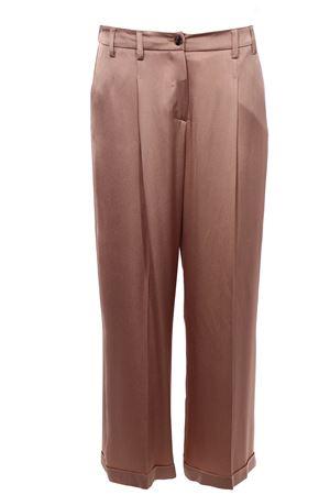 Pantaloni gamba larga con pinces ALYSI | 5032272 | 100153P0219NUDE